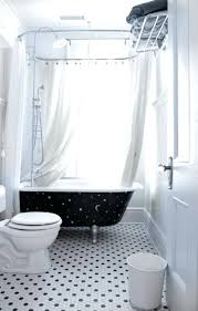 small clawfoot tub prop black colored with elegant white curtain for bathroom ideas small clawfoot tub prop