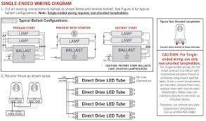 double ended and single ended led tubes Dual Lite Emergency Ballast Wiring Diagram Workhorse Ballast Wiring Diagram