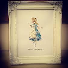 alice in wonderland personalised on frame swarovski crystal and on art disney alice in wonderland personalised gift idea disney gift