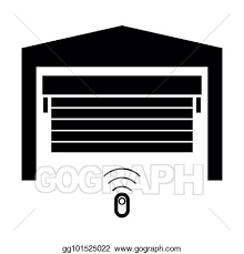 garage door the black color icon