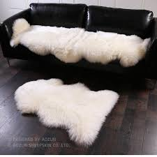 aozun 1p 4p real nz sheepskin rug gy sheep skin fur carpet for home decor white fur sofa cover blanket shaw rug carpet showrooms from waitingye