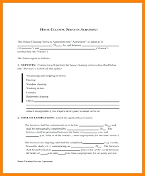 Sample Cleaning Contract Agreement Cleaning Service Agreement Template