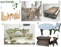 furniture inspirative ecofriendly wooden children table and