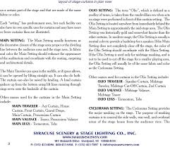Syracuse Scenery And Stage Lighting Co Guide To Stage Curtains Pdf Free Download