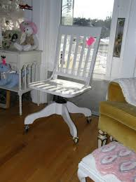 shabby chic office chairs. Shabby Chic White Desk Chair Vintage Office Cottage Hi Gloss Finish Chairs S