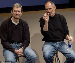 Apple CEO Tim Cook (left) tried to offer his liver to his ailing mentor
