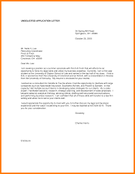 job cover letter for unsolicited resume  cover letter examples