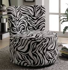 accent chair animal print accent chairs swivel chair in zebra pattern stargate cinema coaster navy blue