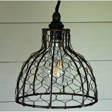vintage bell en wire pendant light shade
