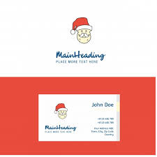 Flat Santa Clause Logo And Visiting Card Template Busienss