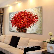 Aliexpress.com : Buy Wall Painting Flower Hand Painted palette knife 3D  texture flower Hand