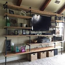 warehouse style furniture. Industrial Pipe Shelving Warehouse Style Furniture