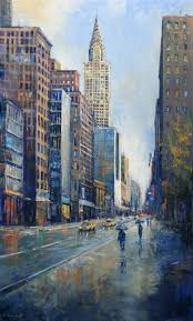 saatchi art artist behshad arjomandi painting rain in new york art