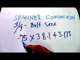 Spanner Size Chart Pdf How To Solve Pcit Pcot Spanner Size And Angle Using 1 414