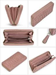 Coach  COACH Madison gathered twisted leather accordion zip around wallet  long wallet outlet F49609 SVBV8 (2 tires)