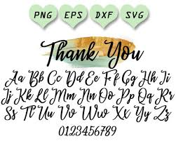 Thank You Cursive Font Svg Font For Wedding Wedding Font Svg Wedding Letters Svg Invitation Font Font Svg Files Cursive Font Svg Swirly Font Svg Calligraphy