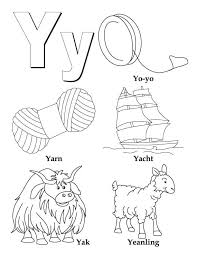 my a to z coloring book y