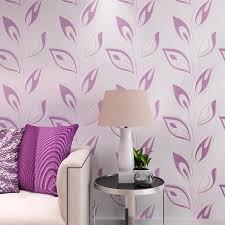 room elegant wallpaper bedroom: aliexpresscom buy modern creative leaves wallpaper fresh elegant living room decor papel de parede d wallpapers black white green purple wz from