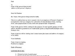 Letter Of Invitation For Uk Visa Template