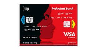 indusind launches credit debit card