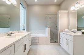 houston marble bathroom floor with architects and building designers transitional white cabinets light grey wall color