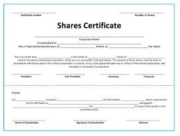 Shareholder Certificate Template Shares Certificate Under Fontanacountryinn Com