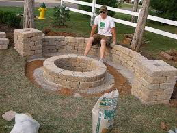 ... Build Stone Fire Pit Awesome Easy Backyard Fire Pit ...