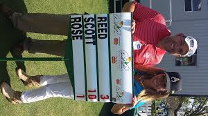 tour miss joins the walking scorer after adam scott s record equalling low round on day one