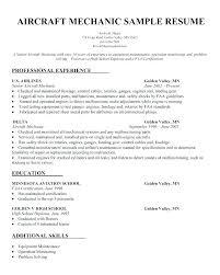 Best Template For Resume Custom Aircraft Maintenance Resume Sheet Metal Mechanic Resume Aircraft
