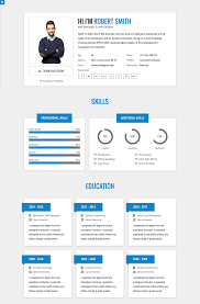Html Resume Builder Profile Page Template Free Download Website