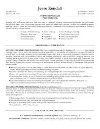 auto sales resume samples car salesman resume sample 2