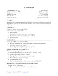 Resume Template For College Student 19 Graduate Sample 16 Com