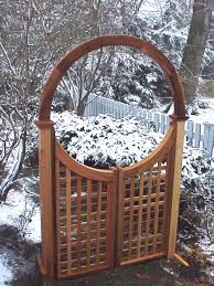 Small Picture Wooden Arbors and Arbor Gates custom made out of Western Red Cedar
