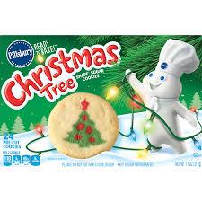 pillsbury sugar cookies.  Sugar Pillsbury Ready To Bake Christmas Tree Shape Sugar Cookie Dough 11 Oz  24 Count  Walmartcom Intended Cookies R