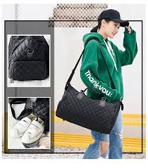 Diamond Lattice Gym Shoe <b>Bags</b> Sport <b>Bag</b> For Women <b>Fitness</b> ...