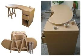 cardboard chair design with legs. Brilliant Legs This Removable Cardboard Desk Was Made With Recycled Cardboard If You Want  To Take It You Separate The Tray From Legs And Shelves Inside Cardboard Chair Design With Legs
