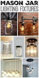 chandeliers great mason jar lighting fixtures for your rustic home diy mason jar lanterns diy