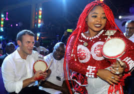 Image result for Macron visit to African Shrine