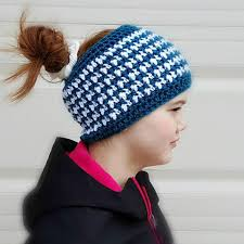 Messy Bun Beanie Pattern Interesting Messy Bun Hat Pattern Collection Red Heart