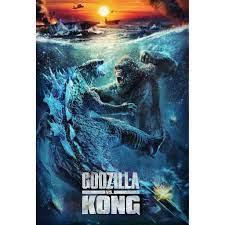 """โปสเตอร์ หนัง ก็อดซิลล่าปะทะคอง Godzilla vs Kong (2021) POSTER 24""""x35"""" นิ้ว  v3"""