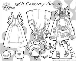 a historical paper doll clothes from the 18th century clothing to color free to print from paperthinpersonas