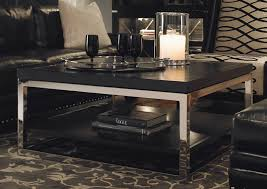 large square coffee table black