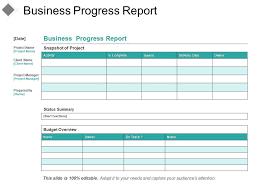 Business Progress Report Good Ppt Example Powerpoint
