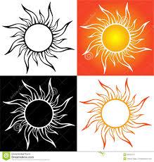 абстрактное солнце татуировка иллюстрация вектора иллюстрации