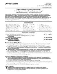 Resume Examples Human Resources Resume For A Generalist In