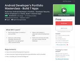 Resume Apps Android Developer's Portfolio Masterclass Build 100 Apps Udemy 80