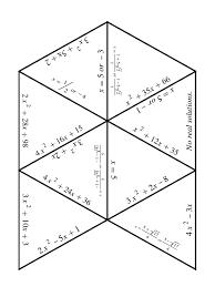 quadratic equations puzzle factoring and solving worksheet quadratic formula activity worksheet printables
