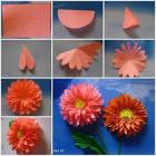 Как делать цветы из бумаги пошаговой