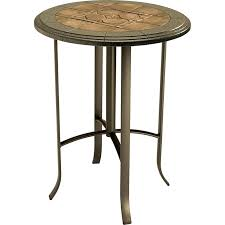 outdoor high round bar table designs