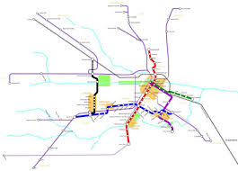 Houston Proposed Light Rail Map Houston Light Rail Map Light Rail Houston Map Texas Usa